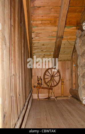 Denmark, Faroe Islands. Historic museum of Kirkjubour. Roykstovan, 700 year old farm house. - Stock Photo
