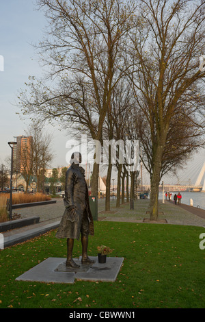 Statue of the Russian Tsar Peter the Great in Rotterdam - Stock Photo