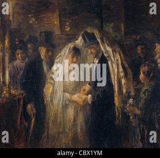 Jozef Israels Jewish Wedding 1903 Rijksmuseum - Amsterdam - Stock Photo