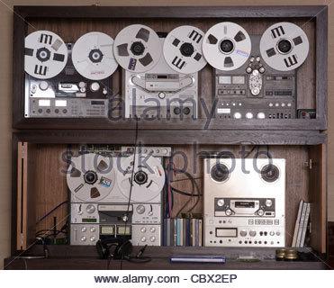 Reel to reel tape recorders - Stock Photo