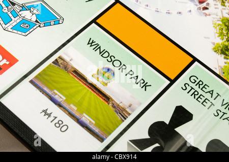 Belfast Monopoly: Windsor Park Football Ground - Stock Photo
