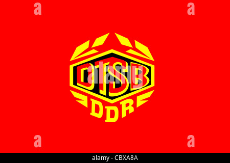 Flag of the German gymnastic and sport organisation DTSB of the GDR. - Stock Photo