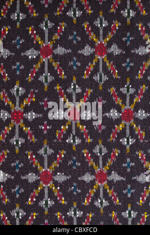 pattern on thai cloth texture of general traditional thai style native - Stock Photo
