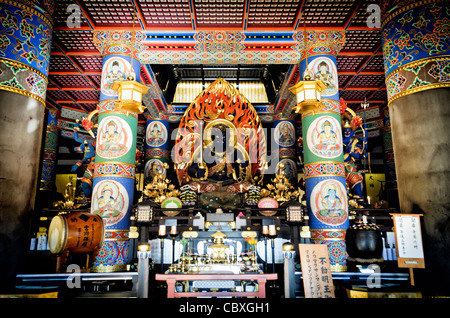 NARITA, Japan - Image of Fudō myōō (Fudo myoo or the Unmovable Wisdom King) forms the heart of the shrine in the - Stock Photo