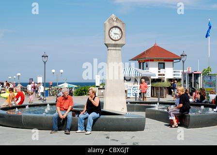 Seafront in seaside resort Binz on the Island Ruegen. - Stock Photo
