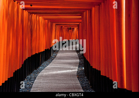 Fushimi Inari Shrine in Kyoto, Japan, Shinto religion, Japan - Stock Photo