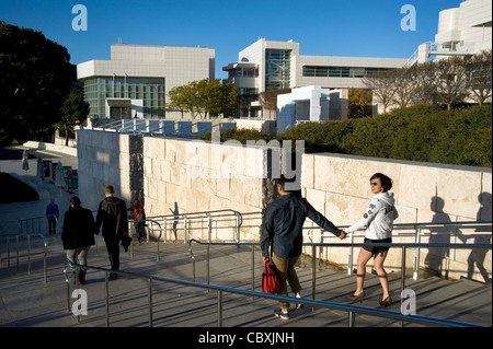 Visitors to the Getty Center in Los Angeles, CA - Stock Photo