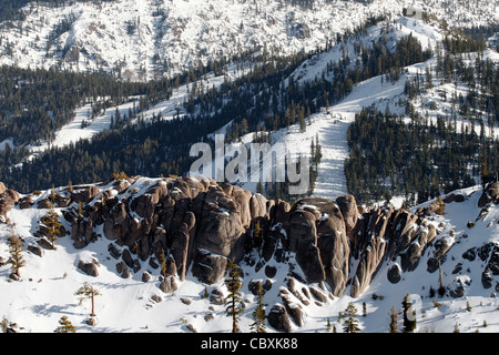 A scenic Squaw Valley landscape in California - Stock Photo