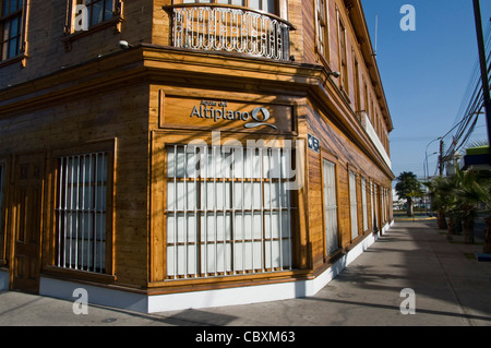 Chile. Iquique city. Traditional houses. - Stock Photo
