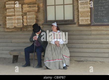 One of Australia's most popular attractions is the animated gold rush open-air museum of Sovereign Hill in Ballarat, - Stock Photo