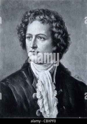 Portrait of Goethe, Johann Wolfgang von (1749-1832) German Poet, Novelist and Scientist. - Stock Photo