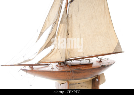 Old Model Yacht - Stock Photo