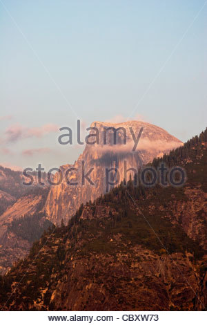 Half Dome as Seen from Tunnel View, Yosemite National Park, California - Stock Photo
