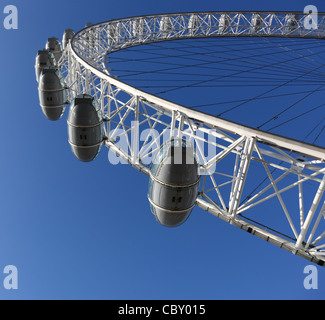 Famous London Eye in London, Great Britain - Stock Photo