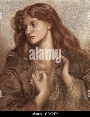 Dante Gabriel Rossetti Alexa Wilding - Stock Photo