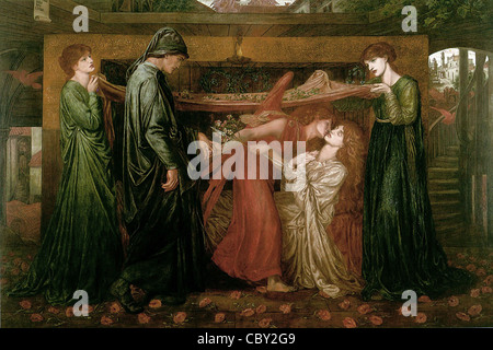 Dante Gabriel Rossetti Dream at the Time of the Death of Beatrice - Stock Photo