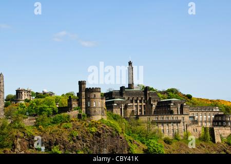 The Observatory on Carlton Hill,Edinburgh,Scotland - Stock Photo