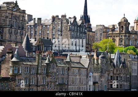Waterloo Place,Old Hotel Complex,,Edinburgh,Scotland - Stock Photo