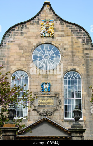 Canongate Kirk Church,The Queen attends a service in this Church When at Holrood House Edinburgh, Scotland - Stock Photo