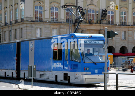 CargoTram in Dresden. - Stock Photo