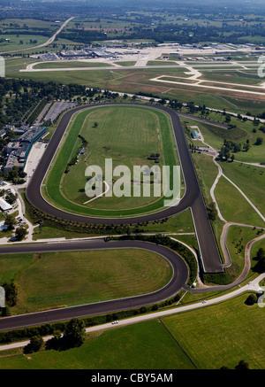 aerial photograph Keeneland, Blue Grass airport, LEX, Lexington, Kentucky - Stock Photo