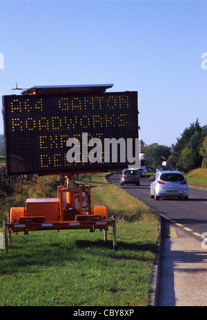 Electronic matrix sign advising of traffic delays, London ... |Electronic Highway Signs Expect Delays