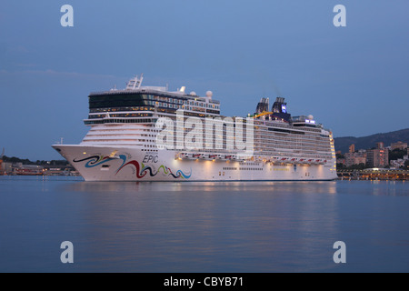 The Norwegian Epic Cruise Ship In Port At Naples Italy