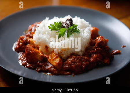 A portion of Indian masala on a plate - Stock Photo
