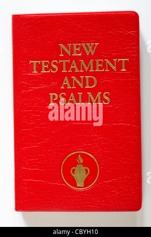 Little red book - New Testament and Psalms isolated on white background - Stock Photo