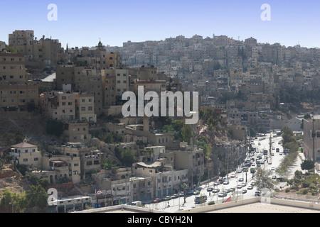 skyline of Amman, capitol of Jordan - Stock Photo