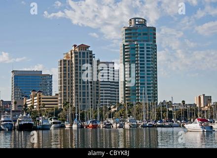 St. Petersburg, FL Waterfront Skyline, 2012 Stock Photo
