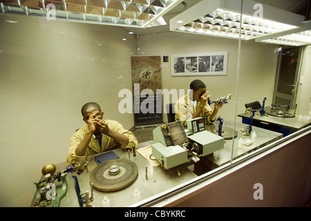 Diamond Cutting and Polishing - Windhoek, Namibia - Stock Photo