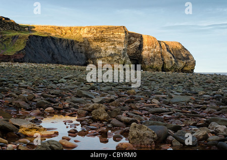 Noses Point and Blast Beach County Durham - Stock Photo