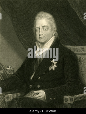 1831 engraving, William IV of the United Kingdom. - Stock Photo