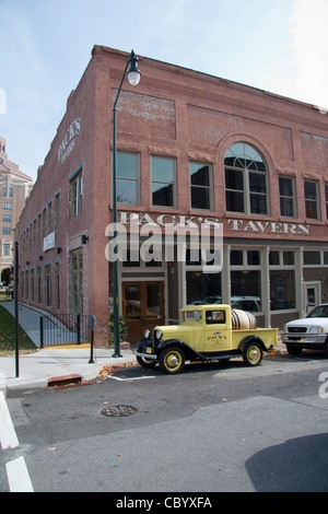 historical pack's tavern on pack square in downtown Asheville, North Carolina - Stock Photo