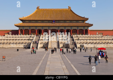 The Hall of Supreme Harmony in the Forbidden City, Beijing, from the Gate of Supreme Harmony.