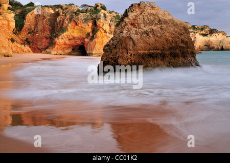Portugal, Algarve: Beach Prainha near Alvor - Stock Photo