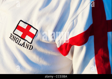 England flag logo on a shirt. Saint George cross - Stock Photo