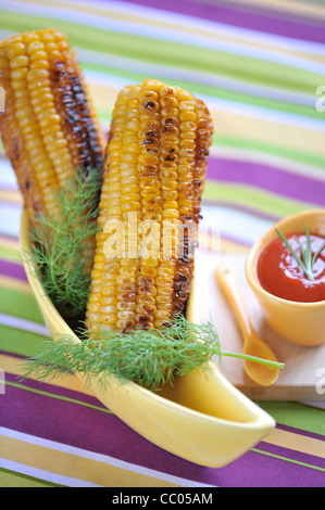 Grilled Corn In New-Orleans Style - Stock Photo