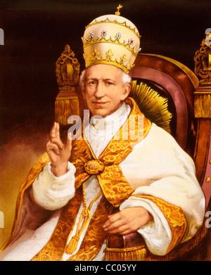 Pope Leo XIII - Gioachimo Pecci, circa 1878 - Stock Photo