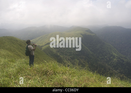 Grassland biomes in the periyar tiger reserve - Stock Photo