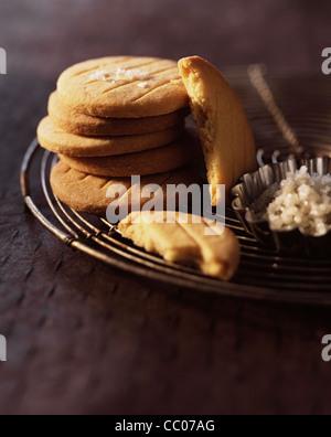 Shortbread biscuits with GuŽrande salt - Stock Photo