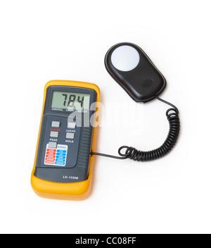 digital light meter - Stock Photo