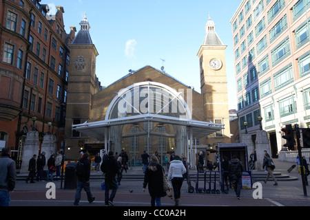 entrance to liverpool street railway station London England UK United kingdom - Stock Photo