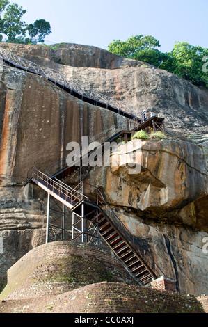 The path to the top of Sigiriya (Lion's rock), Sri Lanka - Stock Photo