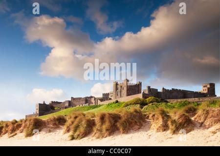 Bamburgh Castle, on the Northumberland coast, England. Stock Photo