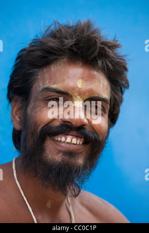Sadhu, wandering monk in Pushkar - Rajasthan, India - Stock Photo