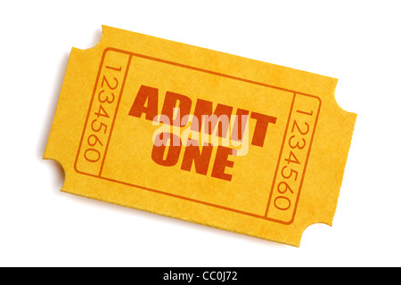 Admission ticket - Stock Photo