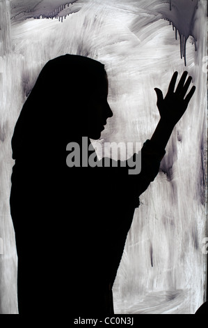 Kabul. Hawca safe shelter for women. A young woman who has fled violence in her home has been given shelter in a - Stock Photo