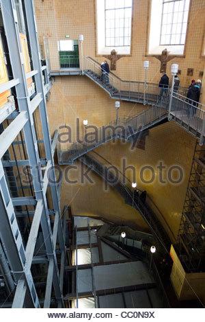 Alter Elbtunnel (old Elb Tunnel), Hamburg, Germany, Europe - Stock Photo